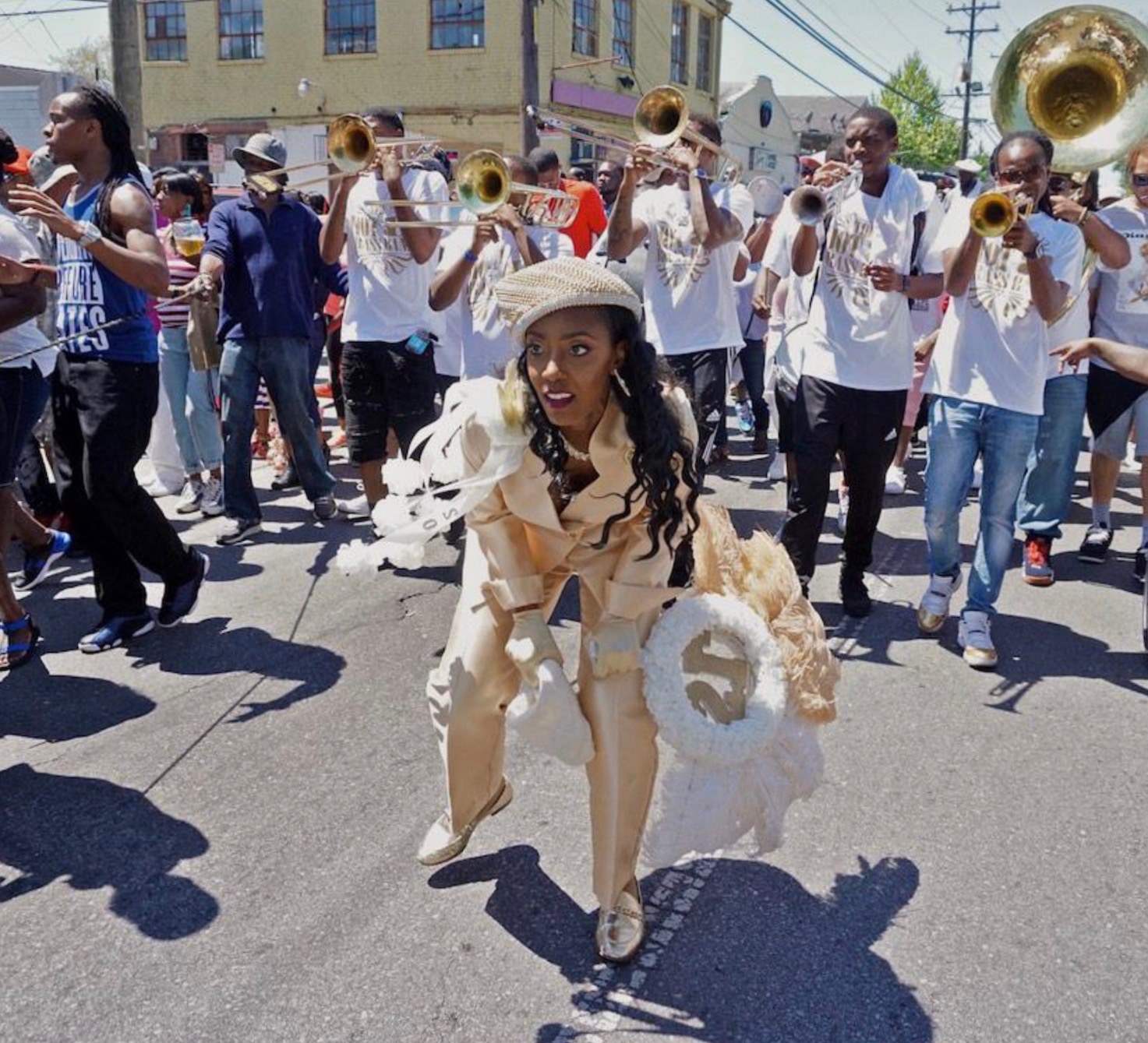Single Ladies Second Line, Central City, New Orleans, 2017, archival pigment print; by Charles M. Lovell