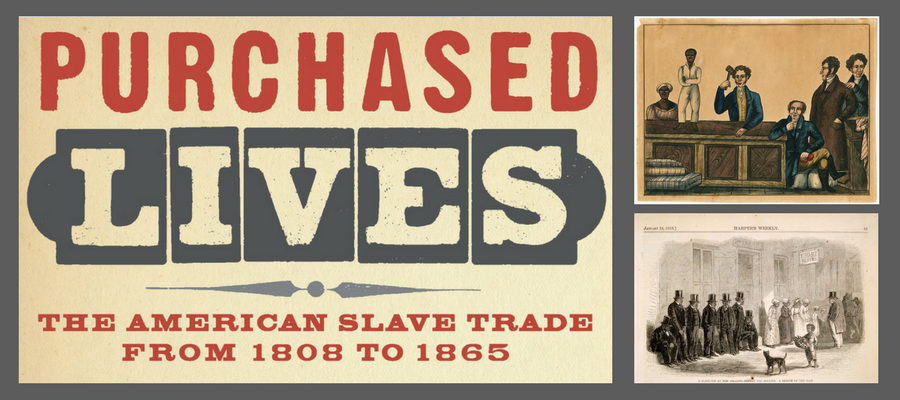 Purchased Lives exhibition banner